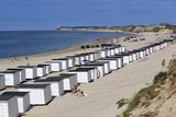 Beach Huts on North Sea Coast, Lokken, Jutland, Denmark, Scandinavia, Europe Fotografie-Druck von Stuart Black