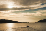Sailing Boat at Sunset on the Dalmatian Coast, Adriatic, Croatia, Europe Fotografisk trykk av Matthew Williams-Ellis