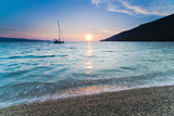 Adriatic Sea Off Zlatni Rat Beach at Sunset, Bol, Brac Island, Dalmatian Coast, Croatia, Europe Fotografisk trykk av Matthew Williams-Ellis