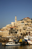 View over the Port and Old Jaffa, Tel Aviv, Israel, Middle East Photographic Print by Yadid Levy
