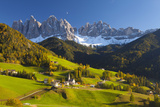 St. Magdalena, Val Di Funes, Trentino-Alto Adige, Dolomites, South Tyrol, Italy, Europe Fotografisk tryk af Miles Ertman