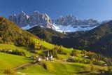 St. Magdalena, Val Di Funes, Trentino-Alto Adige, Dolomites, South Tyrol, Italy, Europe プレミアム写真プリント : マイルス・アートマン