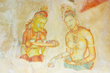 Ancient Frescoes, Sigiriya, UNESCO World Heritage Site, North Central Province, Sri Lanka, Asia Photographic Print by Christian Kober