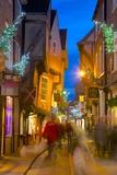 The Shambles at Christmas, York, Yorkshire, England, United Kingdom, Europe Fotografisk trykk av Frank Fell