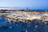 Food Stalls in Place Djemaa El Fna at Night, Marrakech, Morocco, North Africa, Africa Reproduction photographique par Matthew Williams-Ellis