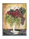 Vase of Grapes Reproduction procédé giclée par Jennifer Garant