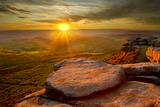 Scenic View from Higger Tor at Sunset, Peak District Np, UK, September 2011 Photographic Print by Ben Hall