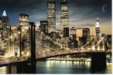 Manhatten Lights Stretched Canvas Print