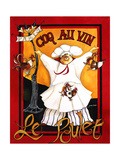 Coq Au Vin Giclee Print by Jennifer Garant