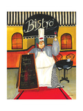 Chef at Bistro Giclee Print by Jennifer Garant