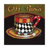 Cafe Paris Reproduction procédé giclée par Jennifer Garant