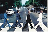 The Beatles Abbey Road Stretched Canvas Print