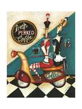 Fresh Perked Coffee Reproduction procédé giclée par Jennifer Garant