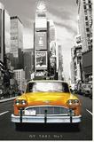 New York - Taxi No 1 Opspændt lærredstryk