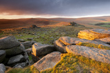 Moorland View at Belstone with Granite Outcrops, Near Okehampton, Dartmoor Np, Devon, England, UK Photographic Print by Ross Hoddinott