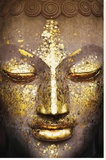 Buddah - Face Stretched Canvas Print