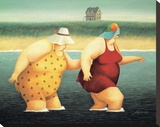 Judy and Marge Stretched Canvas Print by Lowell Herrero
