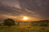 Sunrise over Beacon Hill Country Park, the National Forest, Leicestershire, UK, October Photographic Print by Ben Hall