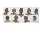 Black People of Different Nations Giclee Print by Jean Baptiste Debret