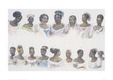 Black Slaves from Different Nations Giclee Print by Jean Baptiste Debret