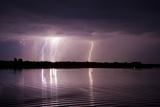 Thunderstorm, Lake Tisza, Hortobagy National Park, Hungary, July 2009 Photographic Print by  Radisics