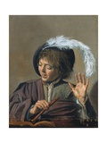 Singing Boy with a Flute Giclee Print by Frans Hals