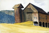Barn and Silo, Vermont Gicléedruk van Edward Hopper