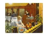 Tables pour dames Reproduction procédé giclée par Edward Hopper