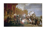The French Army Takes an Oath to Emperor Napoleon after the Distribution of Eagles, December 5 1804 Giclee Print by Jacques-Louis David