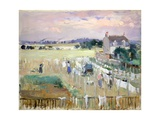 Hanging the Laundry Out to Dry Giclee Print by Berthe Morisot