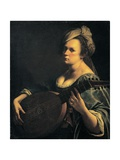 Self-Portrait as a Lute Player Giclee-trykk av Artemisia Gentileschi