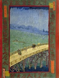 Bridge in the Rain (After Hiroshige) Giclee Print by Vincent van Gogh