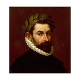 Portrait of the Poet Alonso Ercilla Y Zuniga Lámina giclée por  El Greco