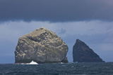 Stac Lee and Stac an Armin, St. Kilda Archipielago, Outer Hebrides, Scotland, UK Reproduction photographique par  Muñoz