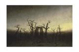 Abbey in the Oak Forest Giclée-tryk af Caspar David Friedrich