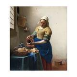 The Milkmaid Giclée-tryk af Johannes Vermeer