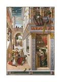 The Annunciation with Saint Emidius Giclée-vedos tekijänä Carlo Crivelli