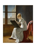 Young Woman Drawing Giclée-Druck von Marie Denise Villers