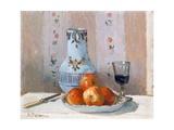 Still Life with Apples and Pitcher Reproduction procédé giclée par Camille Pissarro