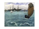 The 'Kearsarge' at Boulogne Giclee Print by Edouard Manet