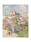 Vue de Gardanne Reproduction procédé giclée par Paul Cézanne