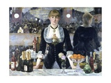 A Bar at the Folies-Bergere Gicléedruk van Edouard Manet