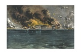 Bombardment of Fort Sumter, Charleston Harbor Reproduction procédé giclée