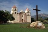 Mission Santa Barbara after 1996 Restoration Photographic Print by Bob Rowan