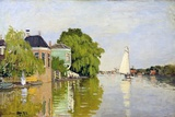 Houses on the Achterzaan Giclée-Druck von Claude Monet