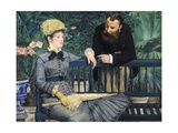 In the Conservatory Giclee Print by Edouard Manet