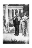 Plato Conversing with a Student at the Academy Giclee Print by Pierre Puvis de Chavannes