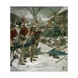 The Boston Massacre Gicléedruk van Howard Pyle