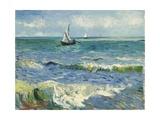 Seascape Near Les Saintes-Maries-De-La-Mer Gicléetryck av Vincent van Gogh