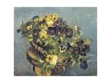 Basket of Violets on a Table Giclée-tryk af Vincent van Gogh